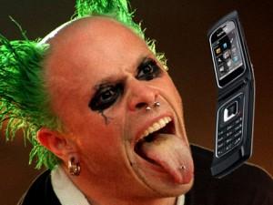 Keith Flint on the Phone