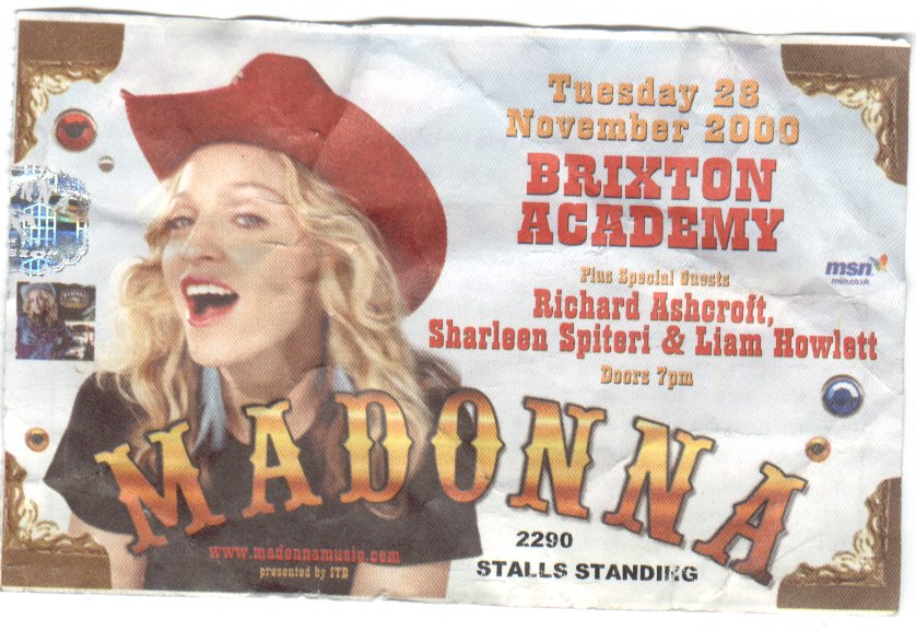 Flyer Madonna : Liam Howlett - Photo from nekozine.co.uk