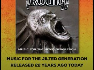 Music For The Jilted Generation Turns 22 Years Old Today